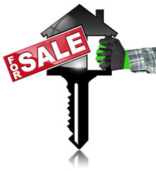House Model with Key - For Sale