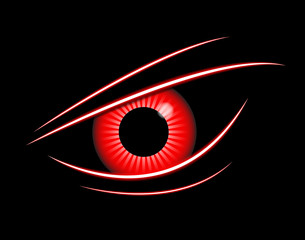 red eye technology abstract background, vector