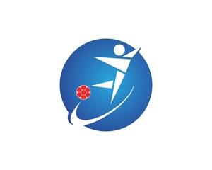 People football logo design template