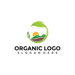 Abstract Organic Agriculture Logo Template. Vector Illustrator EPS. 10
