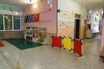 game room in an asylum to educate small children