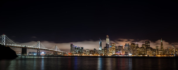 Stores photo San Francisco Panorama Skyline San Francisco bei Nacht