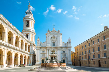 The basilica Santuary of Loreto