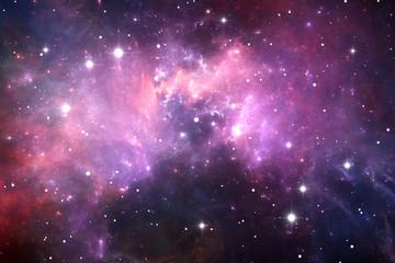 Night sky space background with nebula and stars