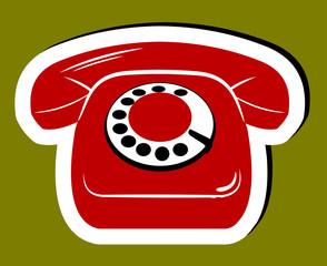 Old phone. Sticker