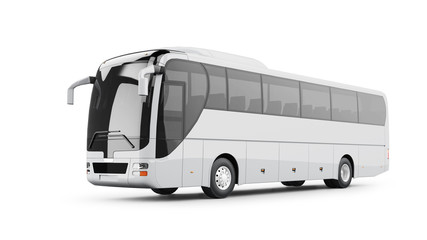 Coach Bus Isolated on White