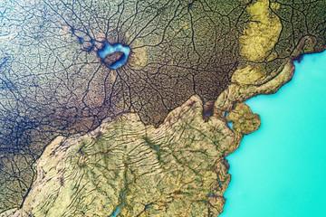 The Hole - Palude con alghe galleggianti - Vista aerea ortogonale
