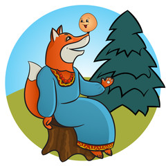 Russian folk tale about a kolobok