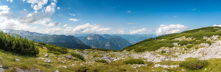 Scenic view of alps mountains a sunny day Wall mural