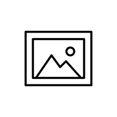 Premium picture icon or logo in line style.