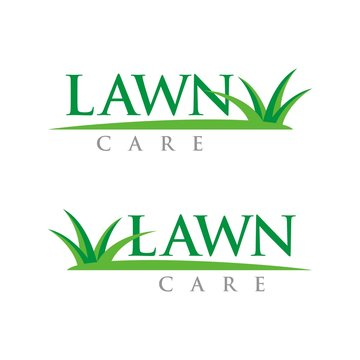 Lawn Care logo design template vector