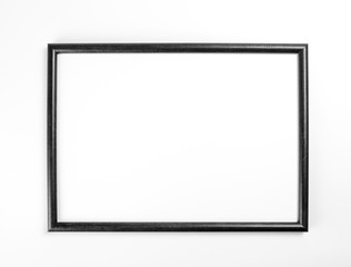 Black frame for painting or picture on white background.