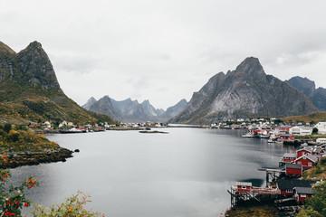Breathtaking view of mountain lake, Lofoten, Norway