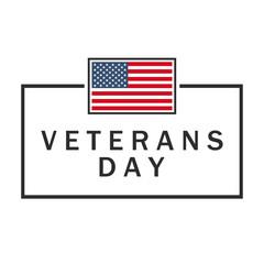 Veterans day banner. USA flag