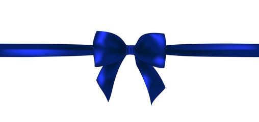 Vector dark blue ribbon bow