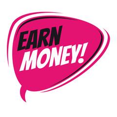 earn money retro speech bubble