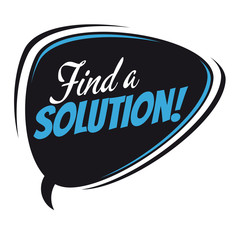 find a solution retro speech bubble