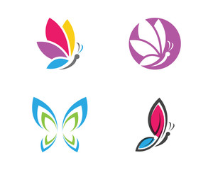 Butterfly Logo Template Vector