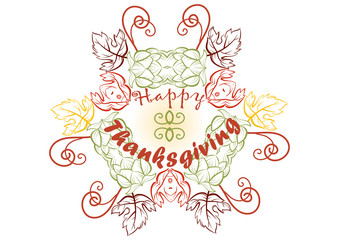 Happy Thanksgiving day, holiday background. Vector illustration