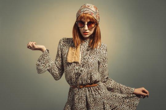 Sixties Retro Hippy Chick