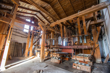 Old mill machines.