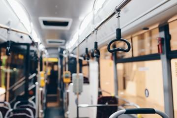 Interior of a modern city bus