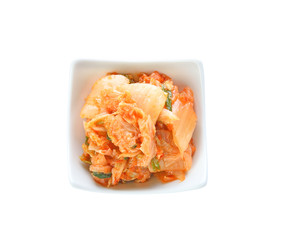 kimchi on white background