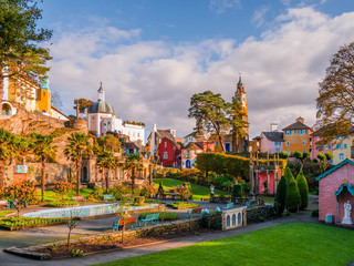 View of the Central Piazza at Portmeirion Wall mural