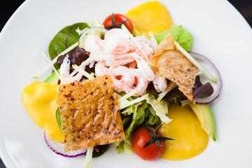 Shrimp salad with sauce