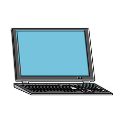 laptop computer frontview  icon image vector illustration design