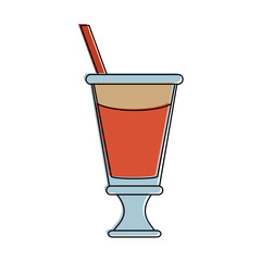 milkshake with whipped cream icon image vector illustration design