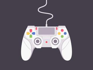 Video game controller. Flat gamepad vector illustration