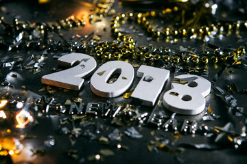 New Year: Grunge 2018 With Party Favors