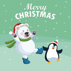 Merry christmas cartoon icon vector illustration graphic design
