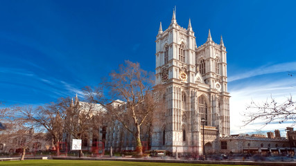 Westminster Abbey in Westminster, London, England, UK
