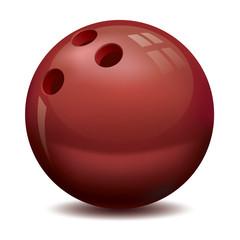 vector bowling ball, vector icon