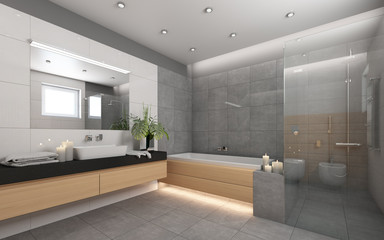 Bright Bathroom With Candels 4