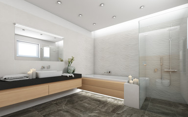 Bright Bathroom With Candels 6