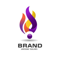 Fire Flame vector logo design vector. Vector Fire Flame  colorful design elements. Fire Flame creative icon.