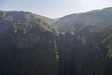 Jin Bahir Falls, Hiking in the Simien Mountains, Ethiopia