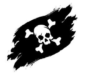 Pirate flag grunge illustration
