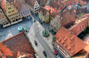 Fototapete - Rothenburg Marktplatz
