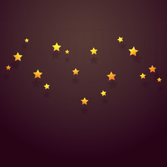 Vector illustration, stars on string