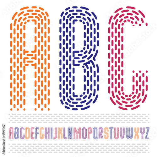 Vector Funky Condensed Capital English Alphabet Letters Abc Collection Rounded Bold Retro Type Font