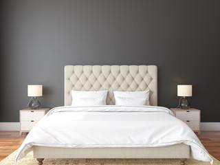 Mock up scene, 3d render, bedroom, interior