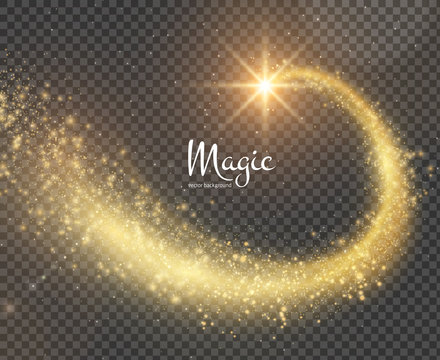 Magic glittering trail background. Vector EPS10