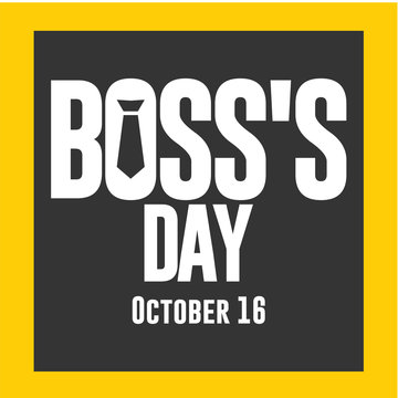 Boss's Day Logo Vector Template Design