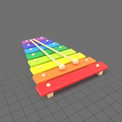 Colorful toy xylophone