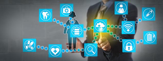 Administrator Transferring Patient Data Via Cloud
