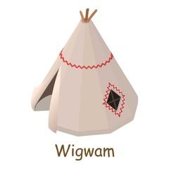 Wigwam icon, isometric 3d style